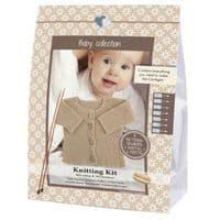 Go Handmade Knitting Crochet Kit Baby Cardigan - Walnut